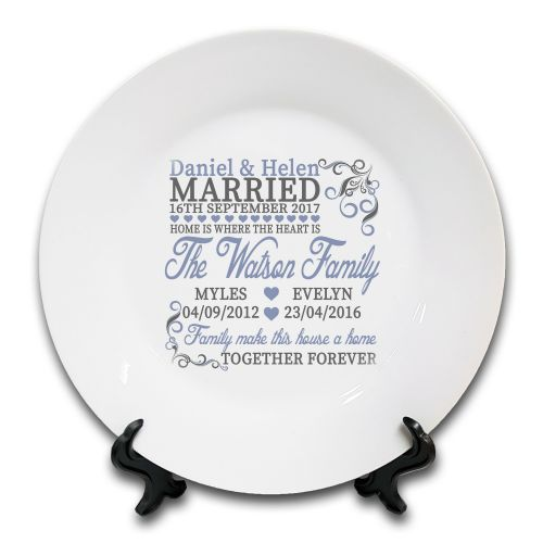 Personalised Home Is Where The Heart Is... Novelty Ceramic Plate